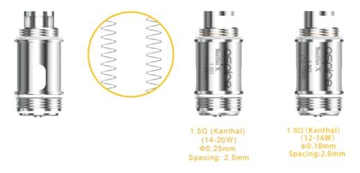 coil nautilusx 1 - Résistance Nautilus X Aspire