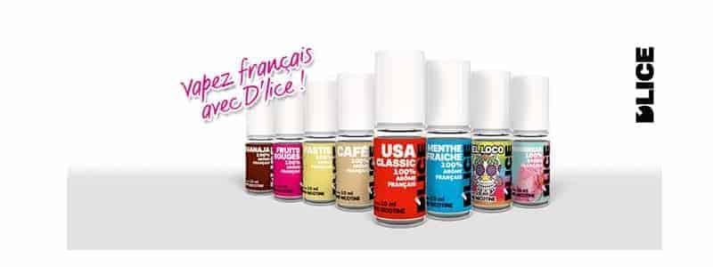 Que sont les produits E liquide D'lice ?