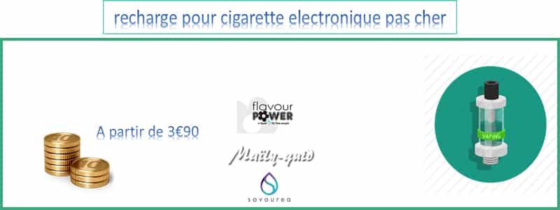 recharge pour cigarette electronique pas cher