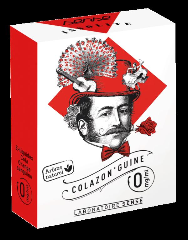 ETUI X3 COLAZON GUINE 00MG 600x768 - E-liquide Colazon Guine Insolite Sense