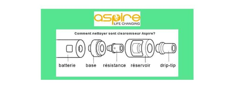 Comment nettoyer son clearomiseur Aspire?