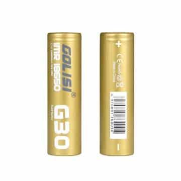 g30 18650 3000mah 20a battery 2pcs golisi - Accu G30 18650 20A Golisi