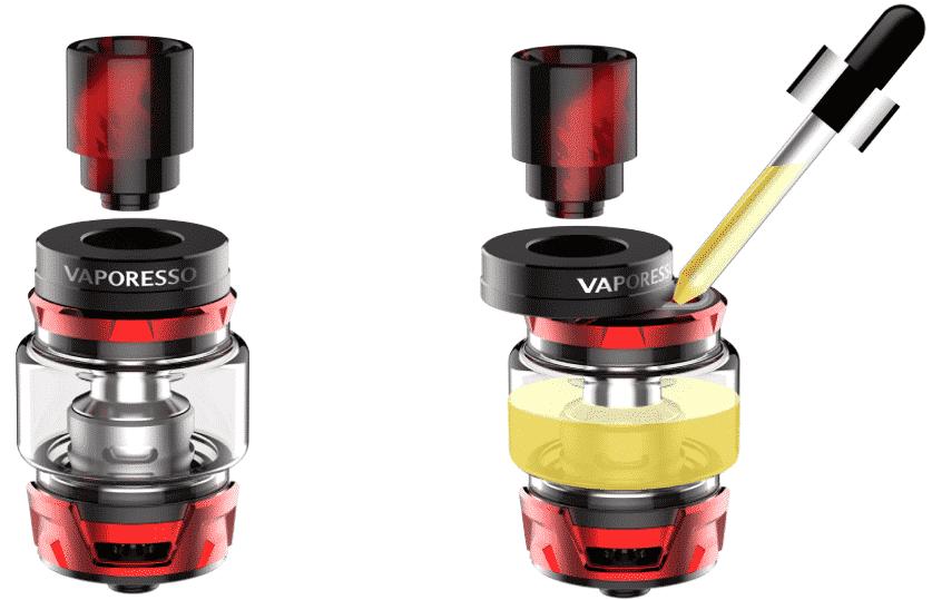 remplissage reservoir skrr vaporesso - Clearomiseur SKRR Vaporesso 8ml