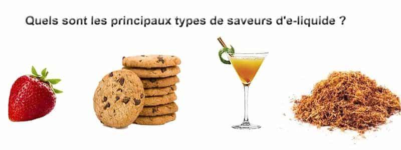 Quels sont les principaux types de saveurs d'e-liquide ?