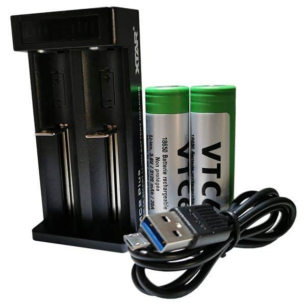 Kit chargeur Xtar Mc2 Plus VTC6 18650