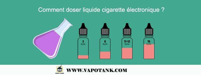 Comment doser liquide cigarette électronique ?